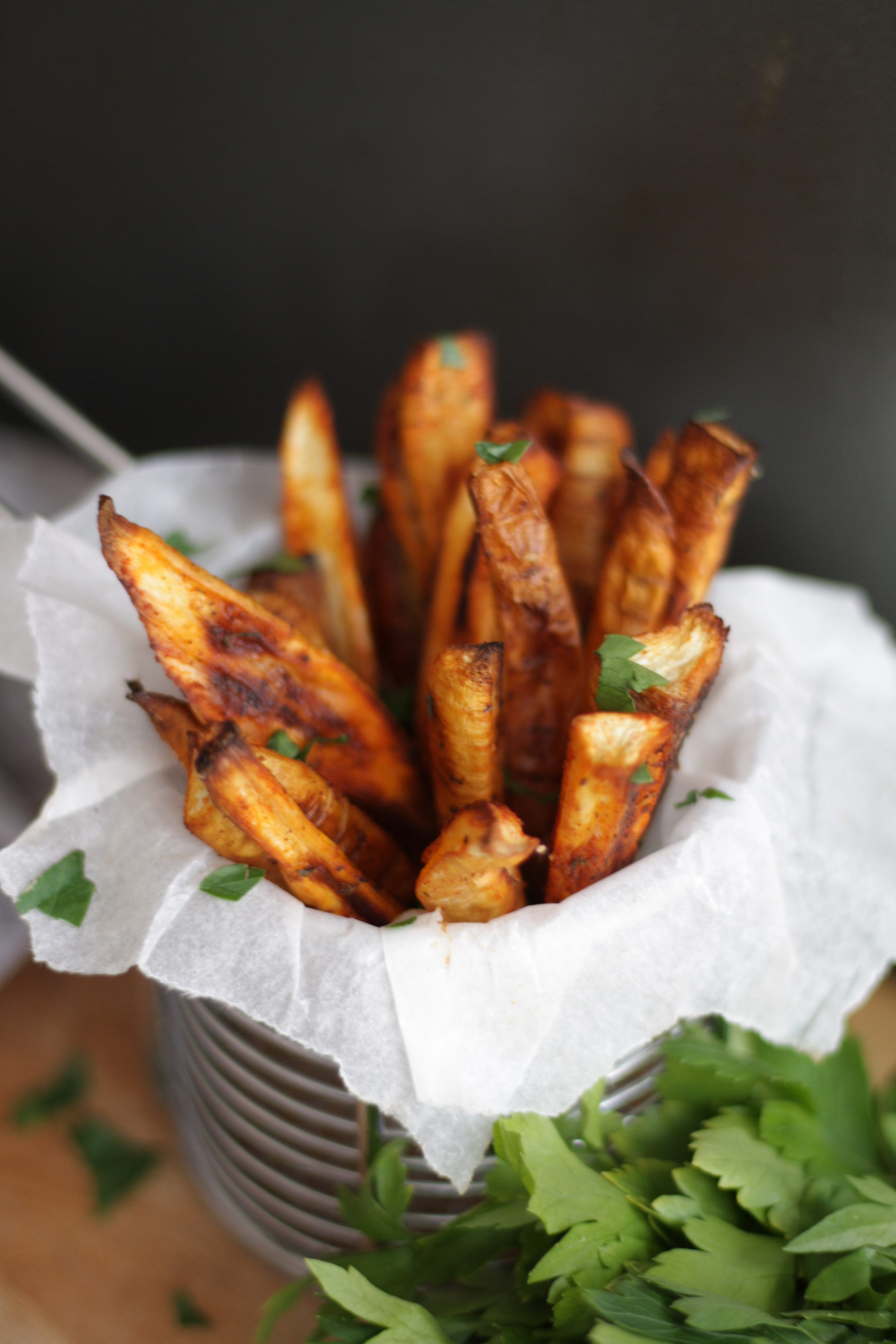 Parsnip Chips Lucy and Lentils