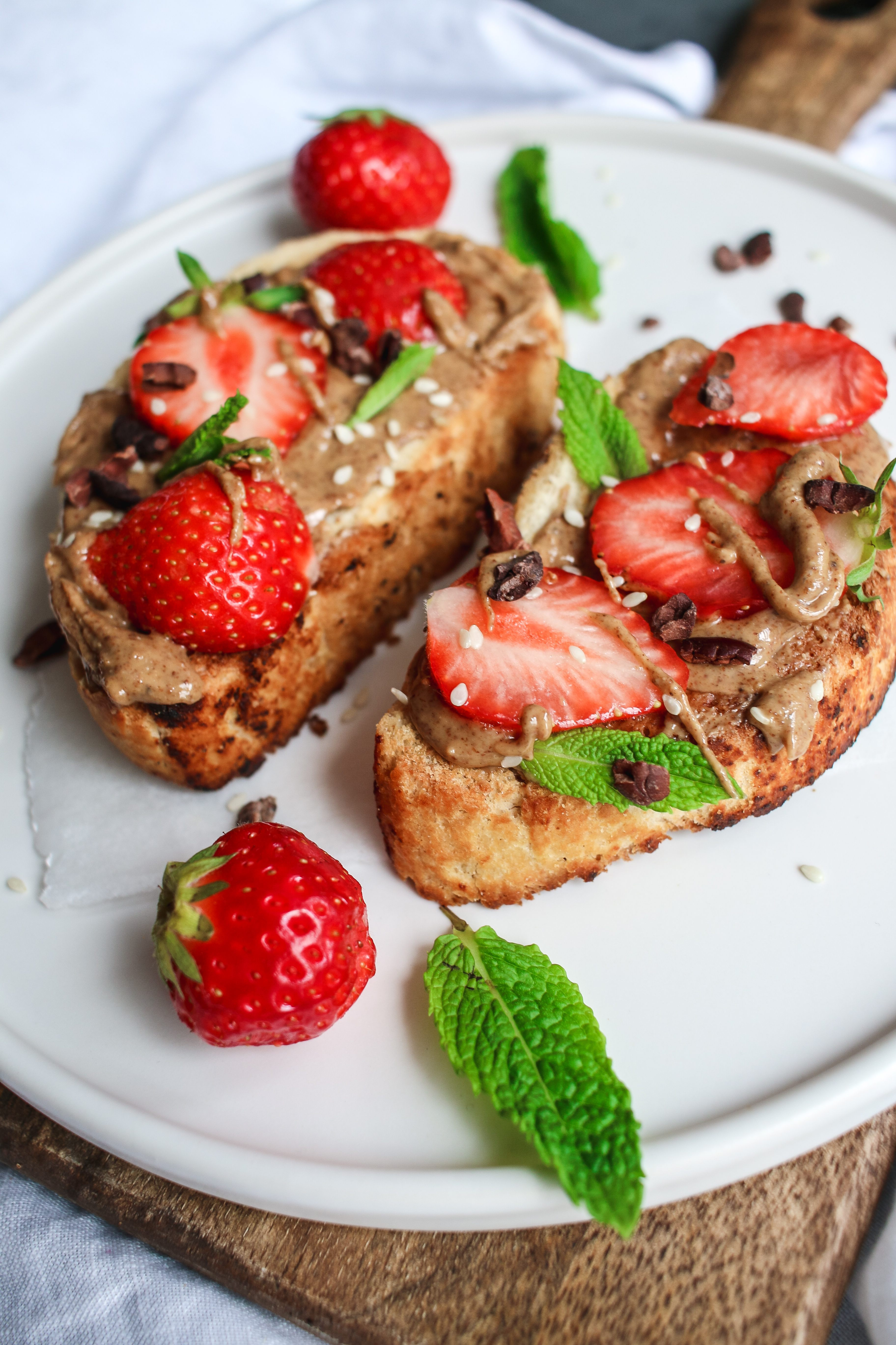 vegan nut butter toast