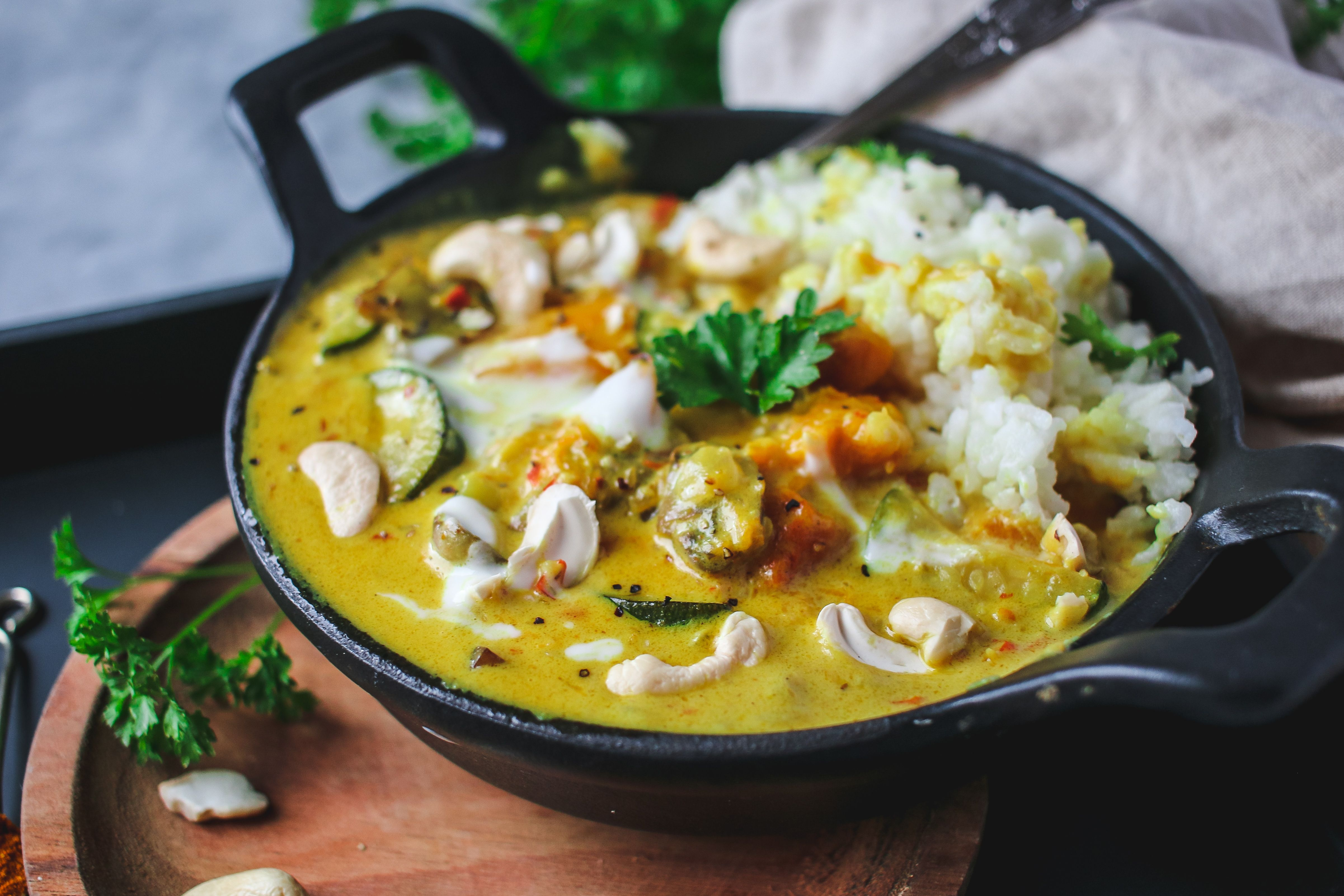 coconut squash vegan curry