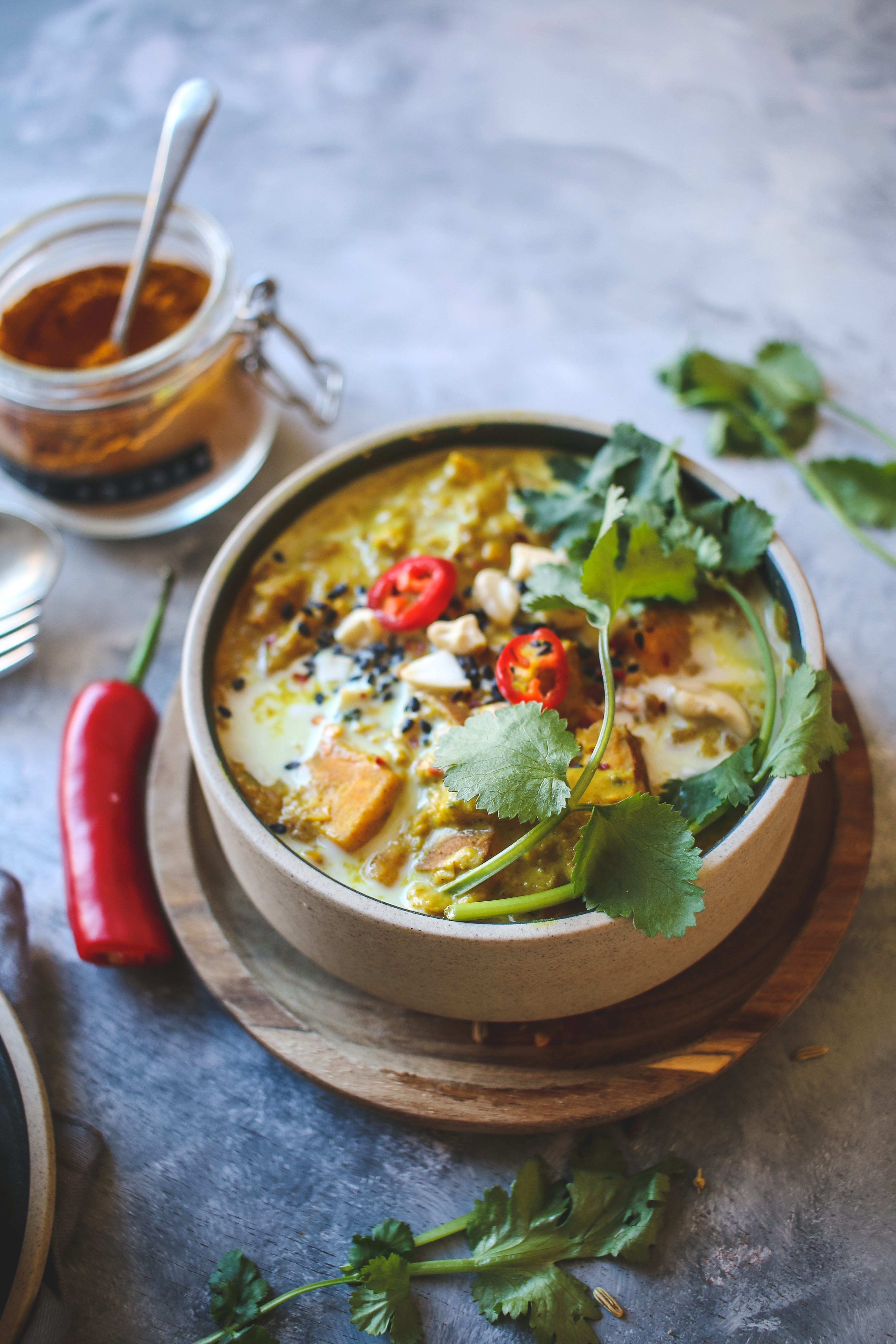 vegan sweet potato and peanut dal recipe