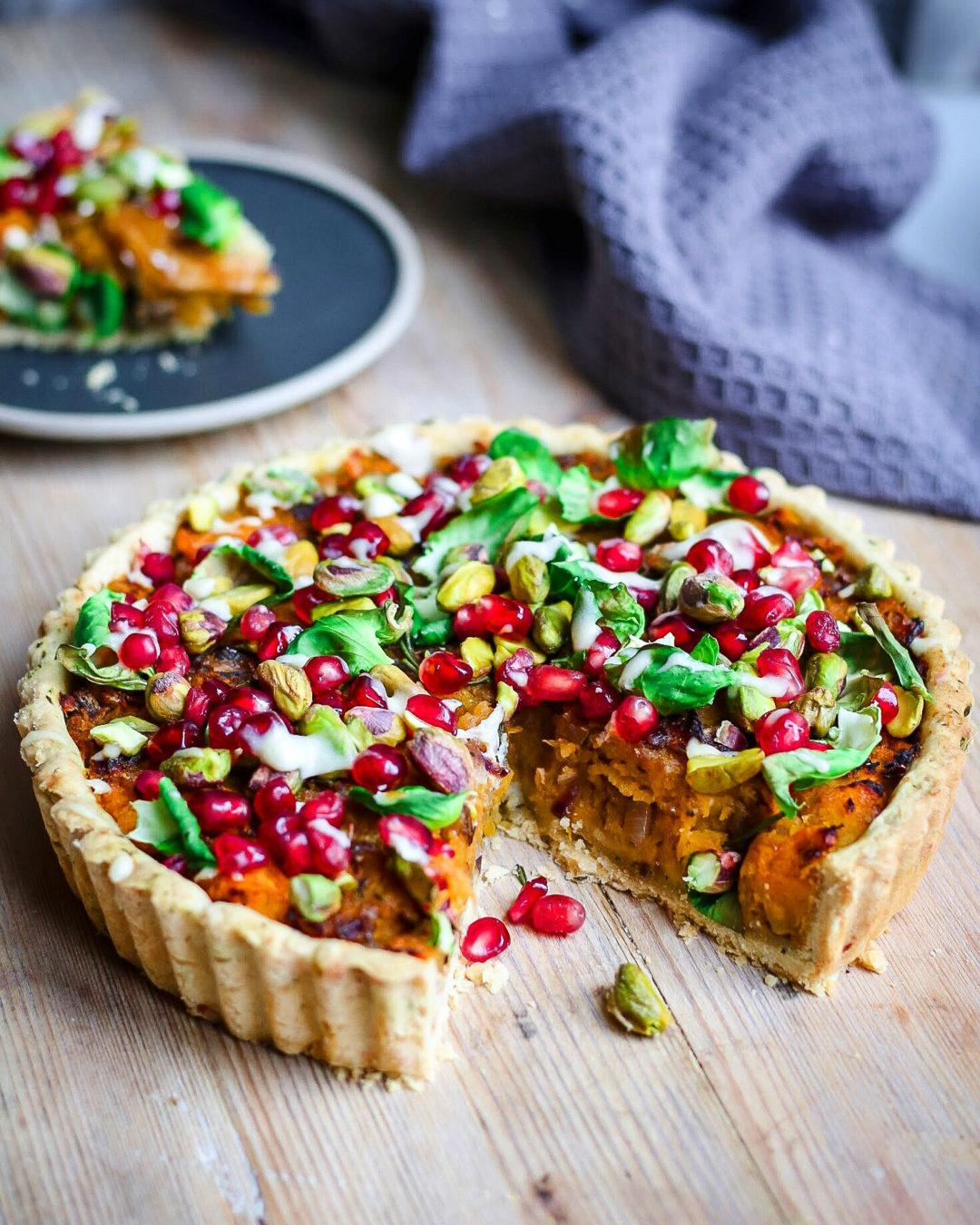 butternut and chestnut tart christmas