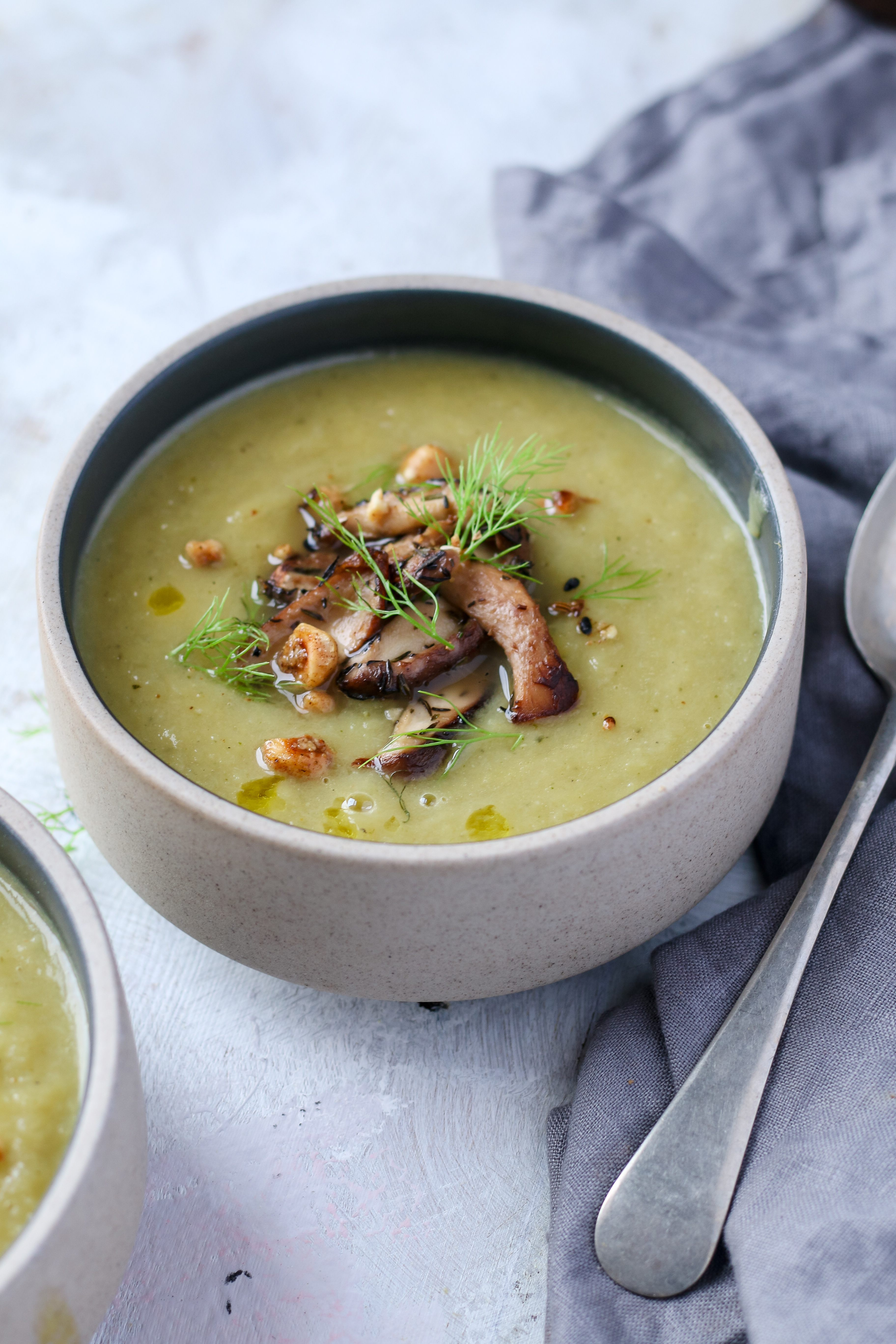 vegan leek and fennel soup