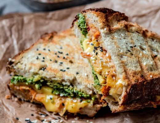 kimchi grilled cheese vegan recipe