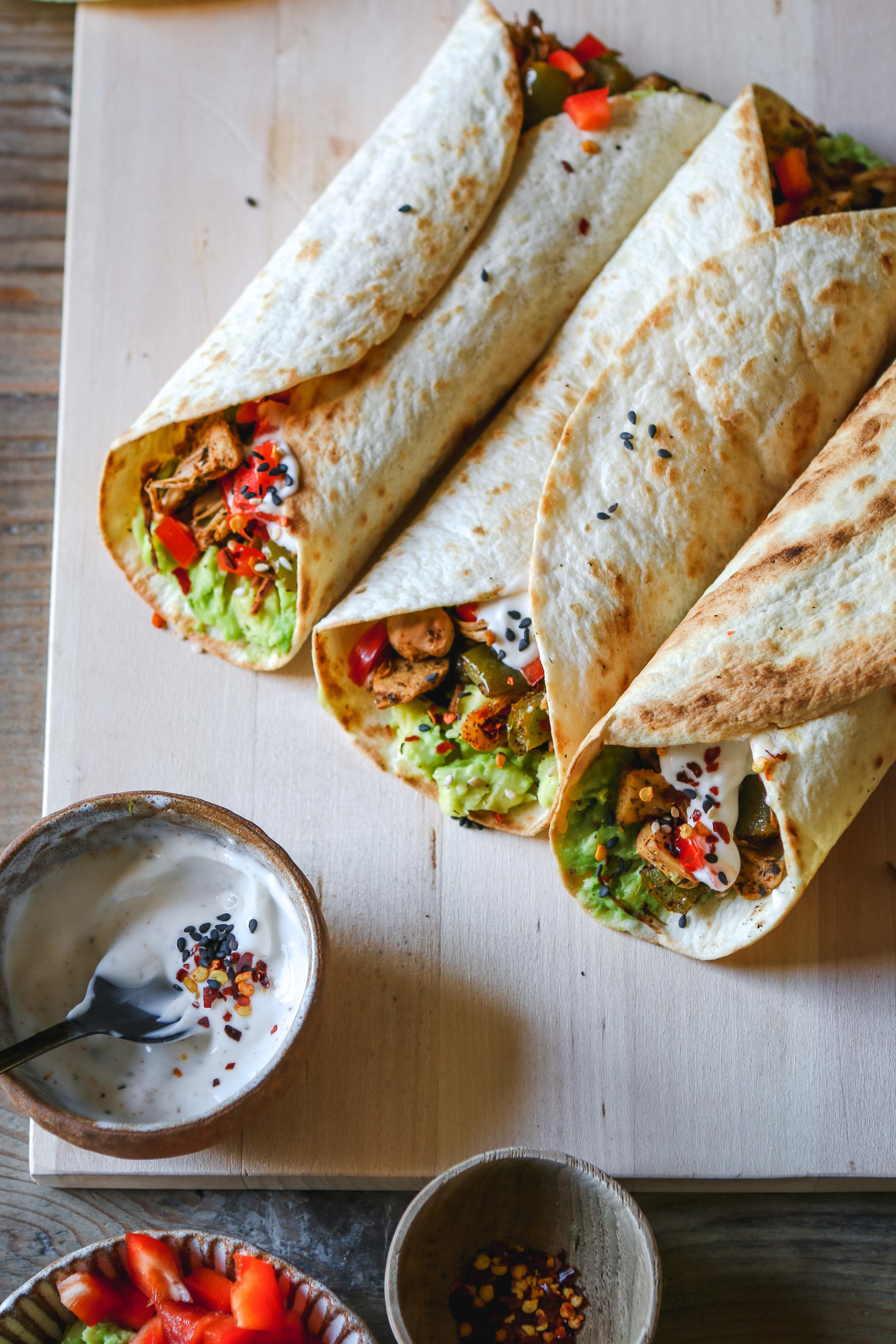 vegan mexican jackfruit wraps