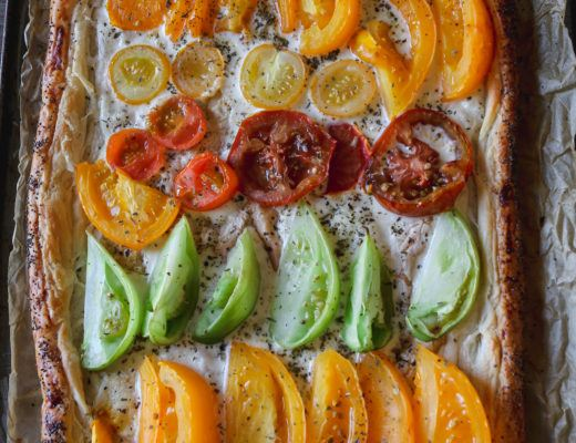 heirloom tomato tart vegan