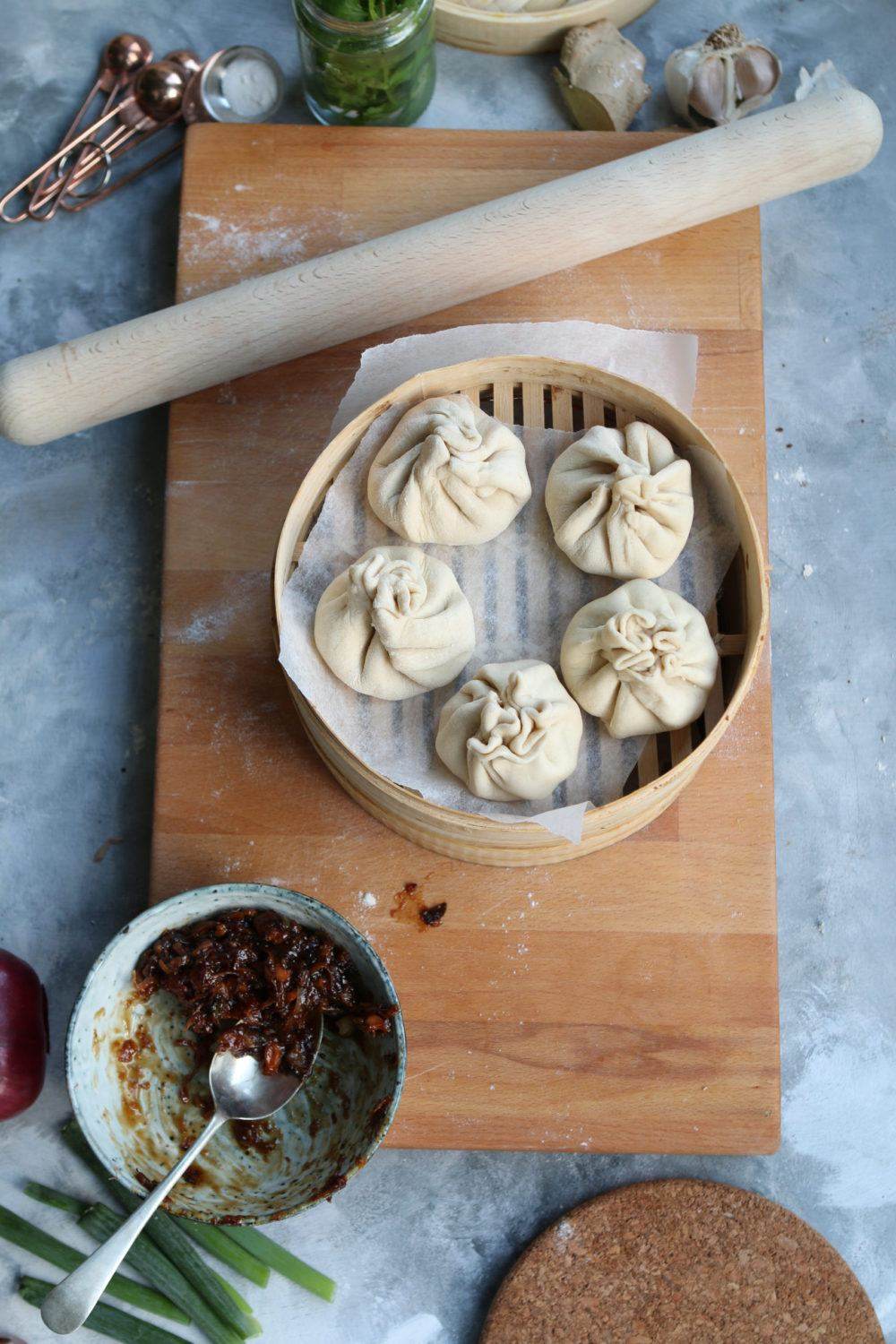 jackfruit bao bun vegan recipe