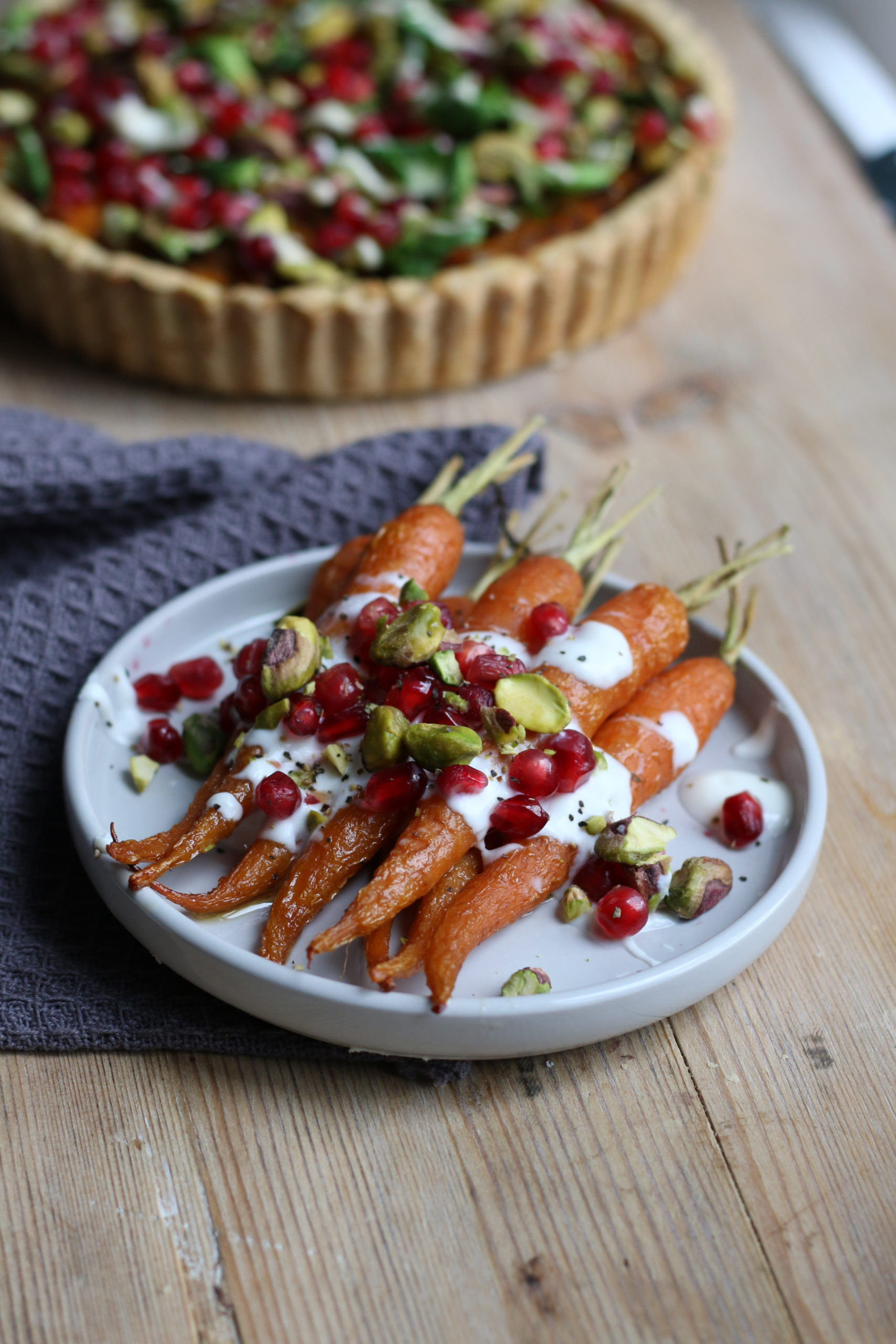 vegan maple roasted carrots lucy and lentils christmas dinner