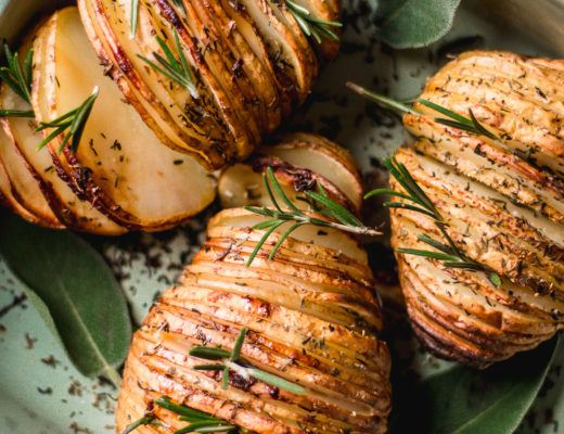 rosemary and garlic hasselback potatoes