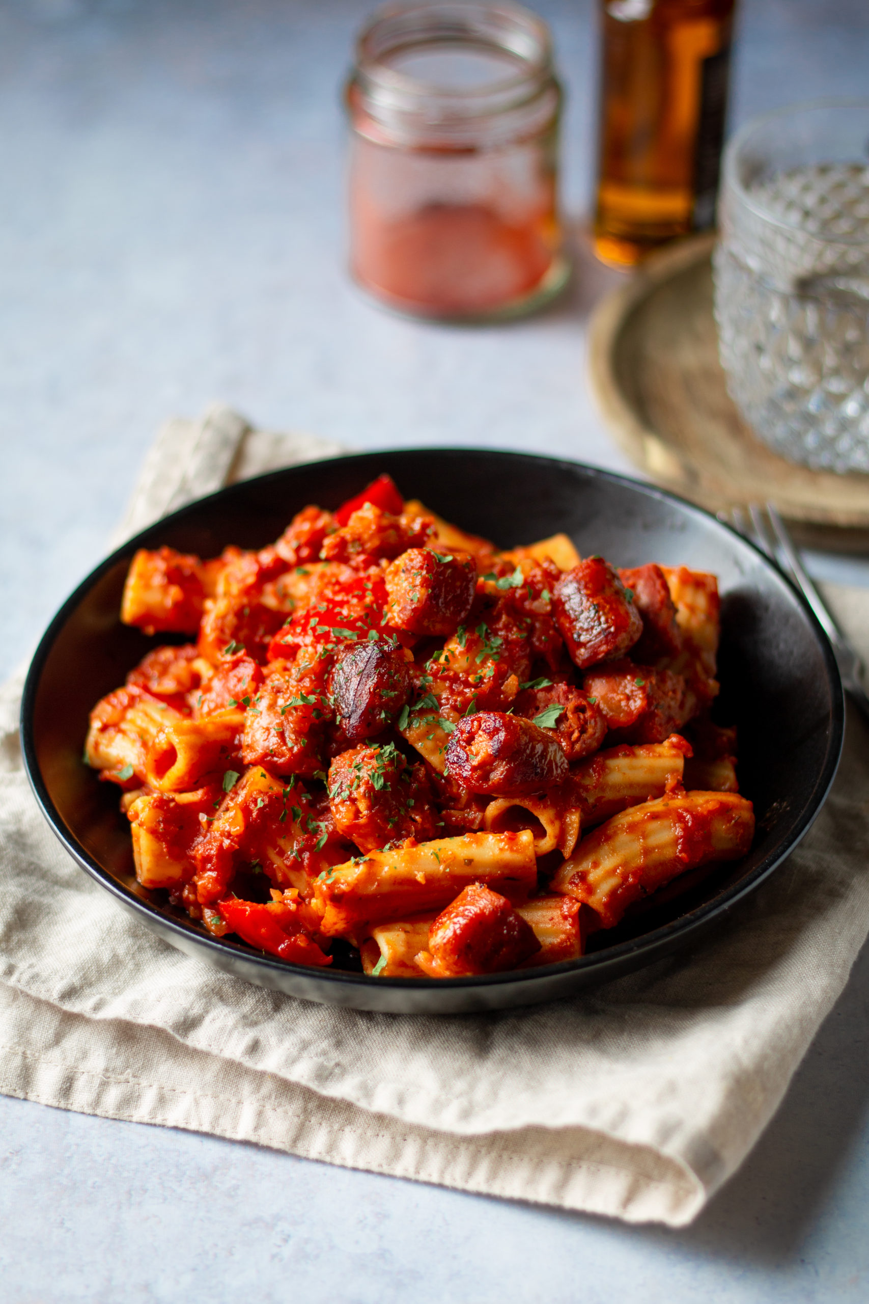 sausage pasta vegan recipe
