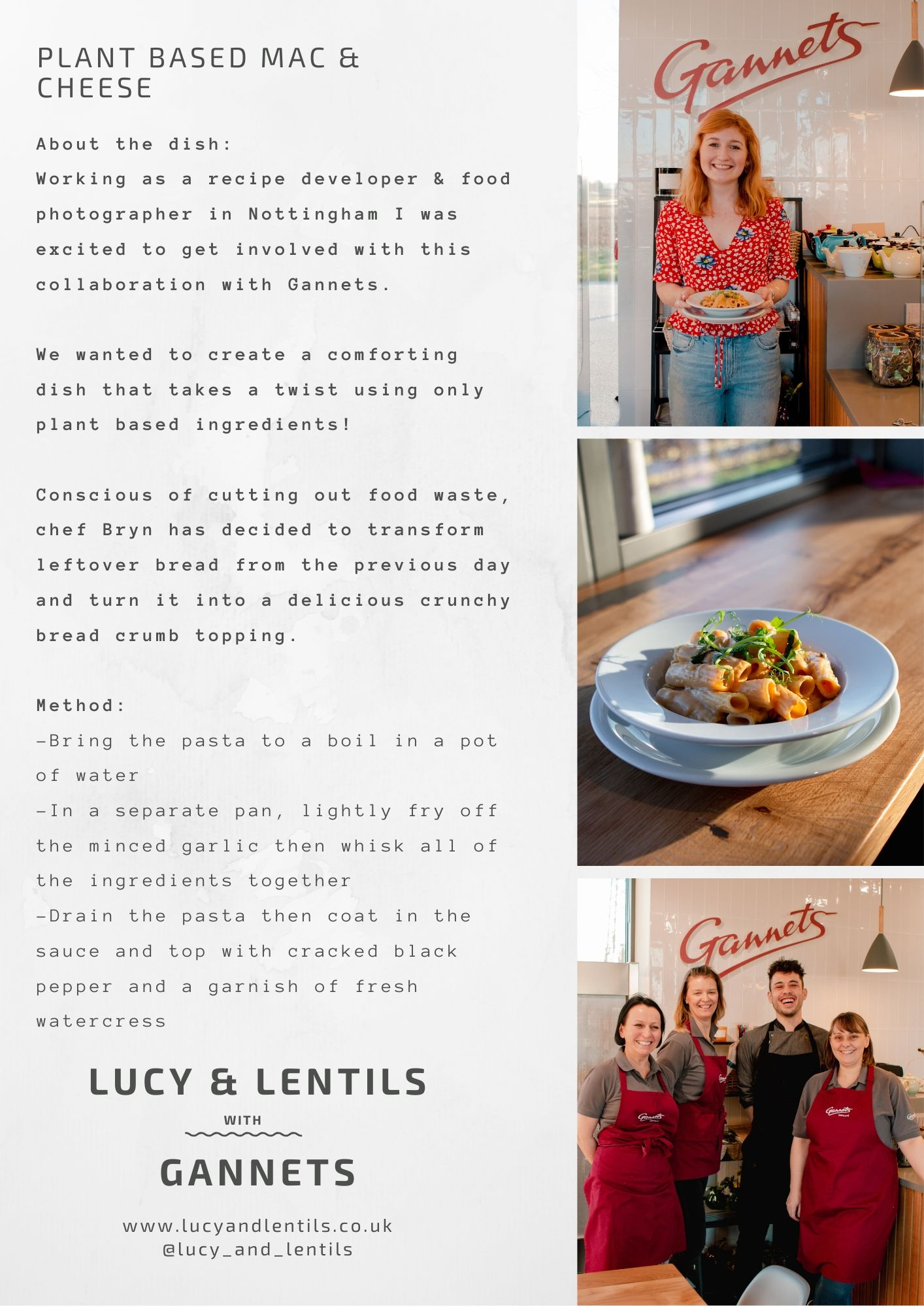 Gannets cafe lucy and lentils