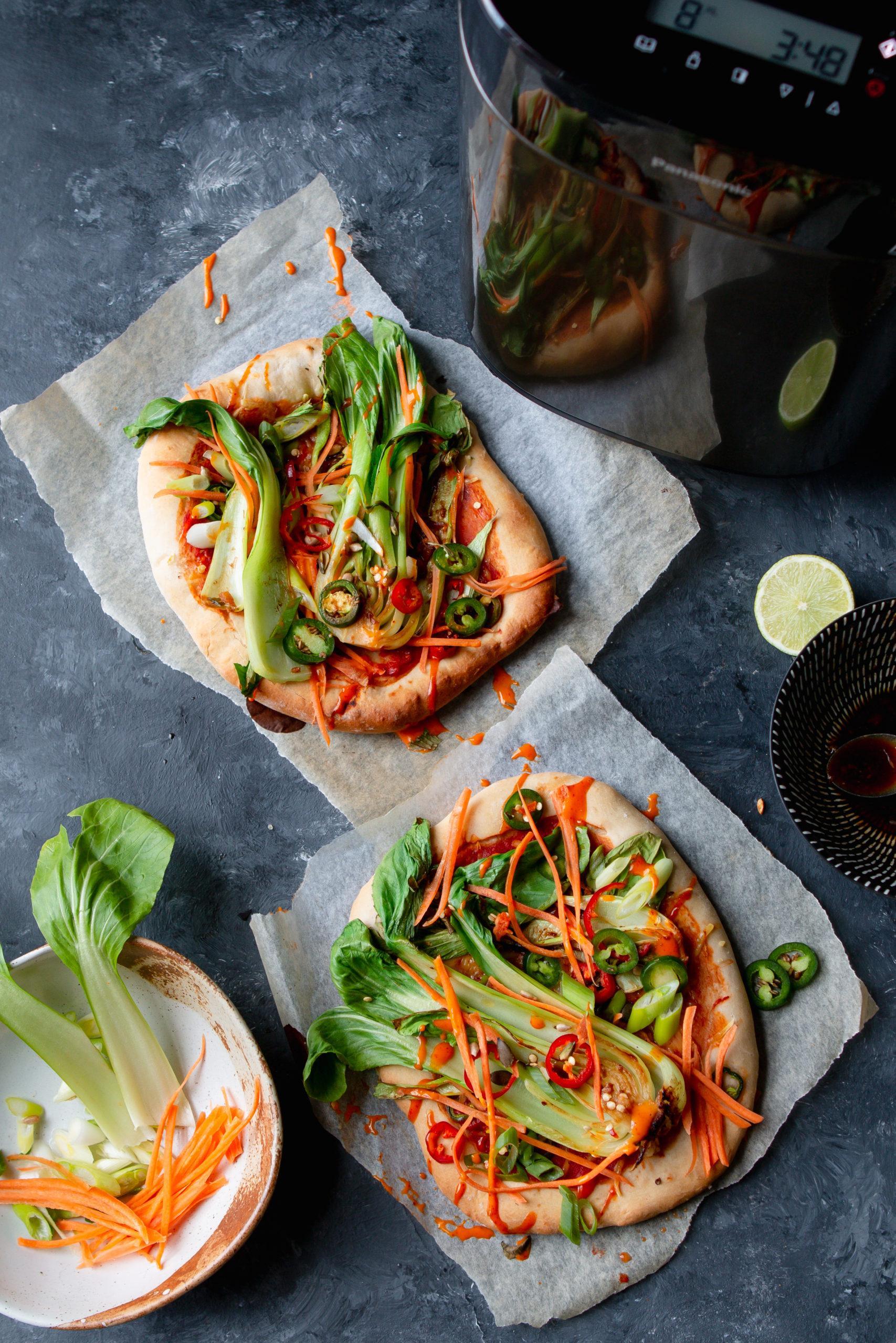 banh mi pizza topping vegan