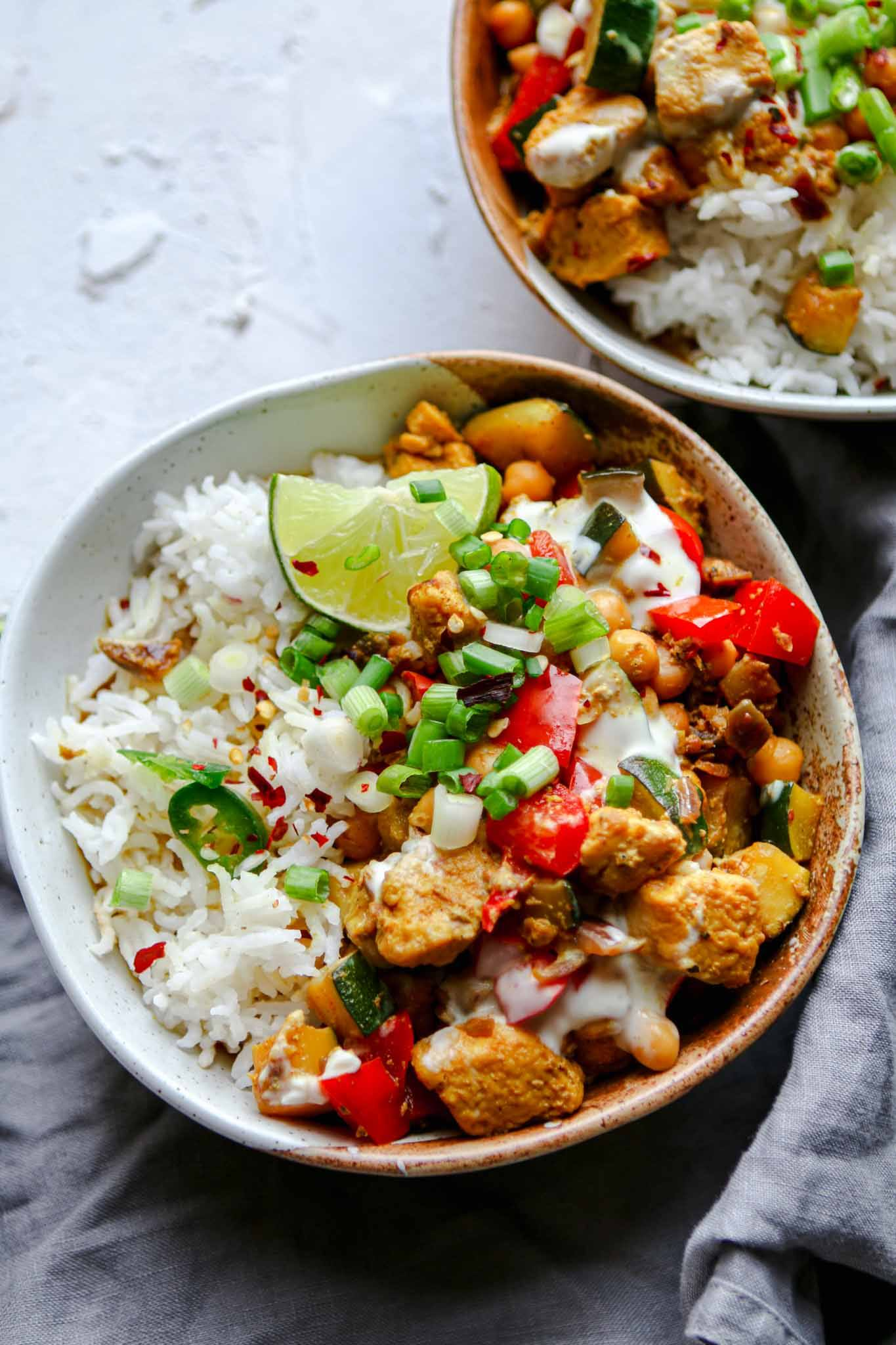coconut milk free veggie curry