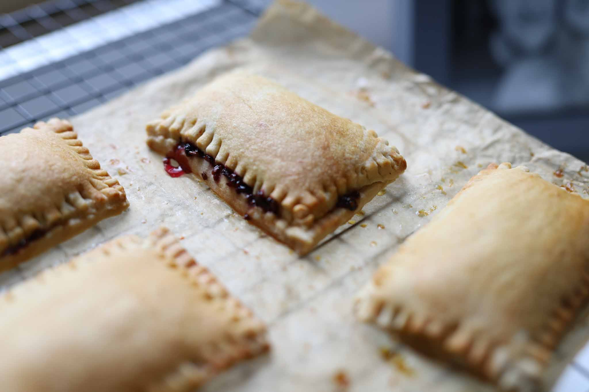 vegan pop tart with blackberry jam vegan