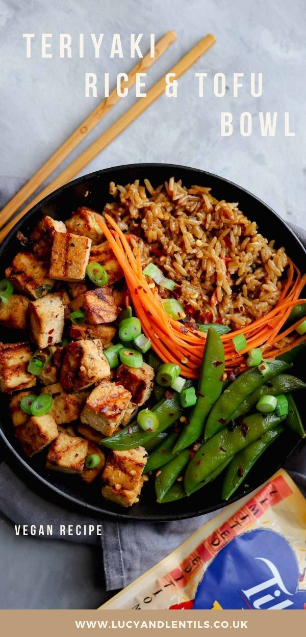 tilda teriyaki rice tofu bowl