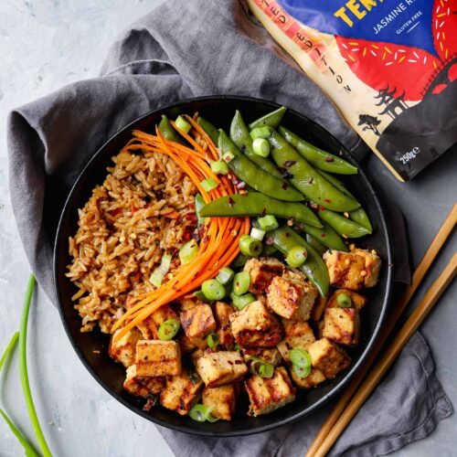 tilda teriyaki rice tofu recipe
