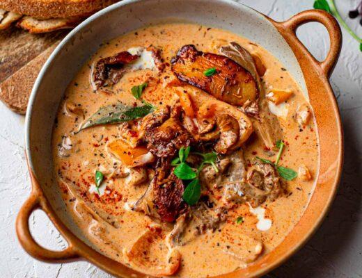 tuscan mushroom soup recipe vegan