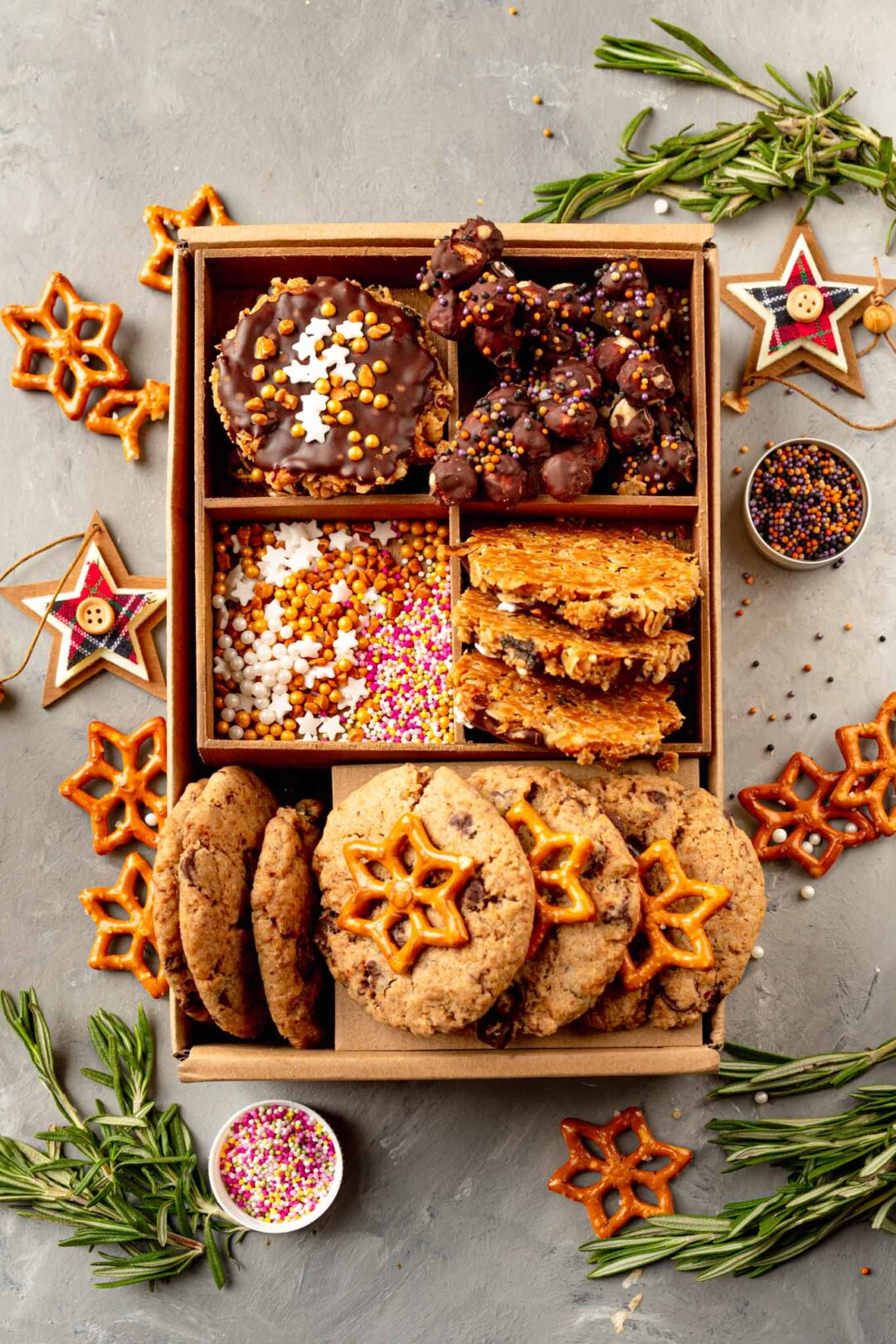 home made christmas biscuit box