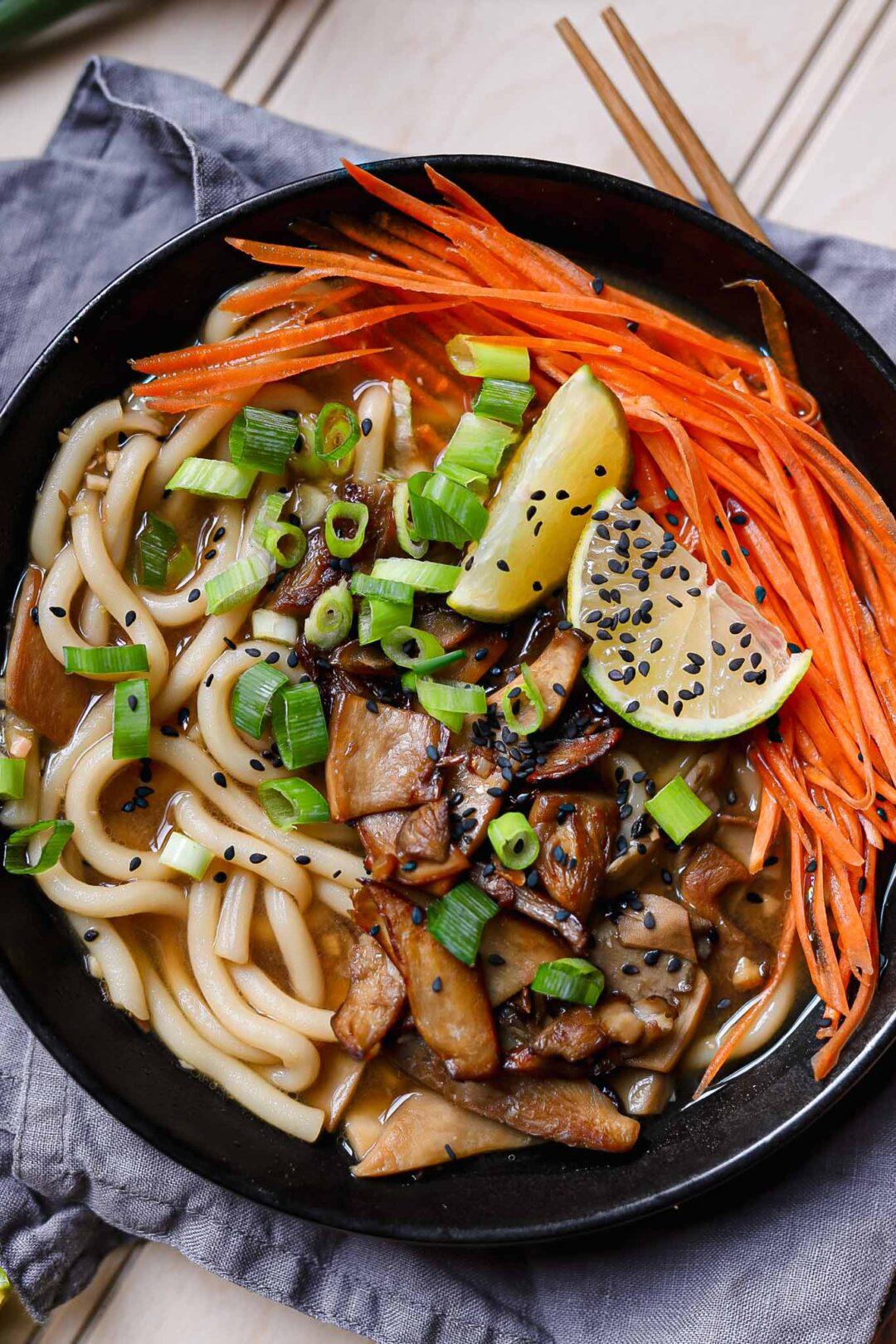 miso soba noodle soup vegan
