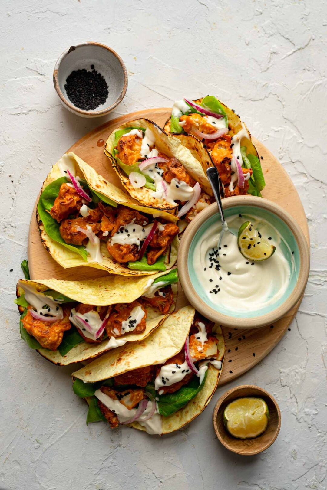 crispy cauliflower tacos vegan recipe
