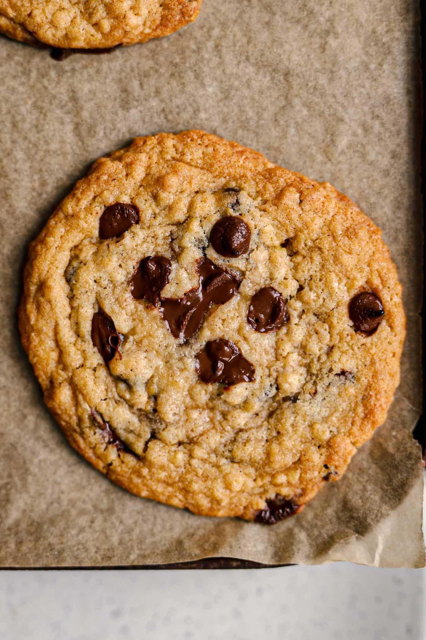 oat and raisin vegan cookies