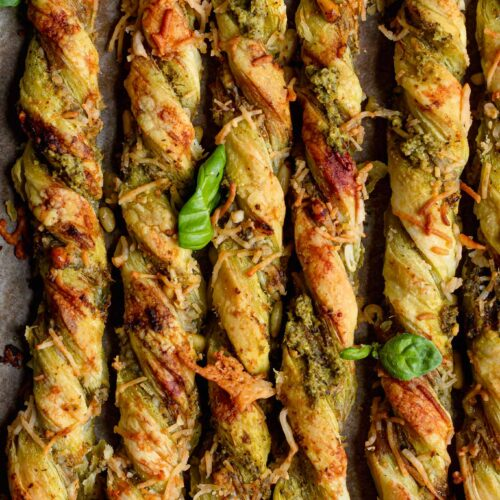 vegan pesto cheese twists