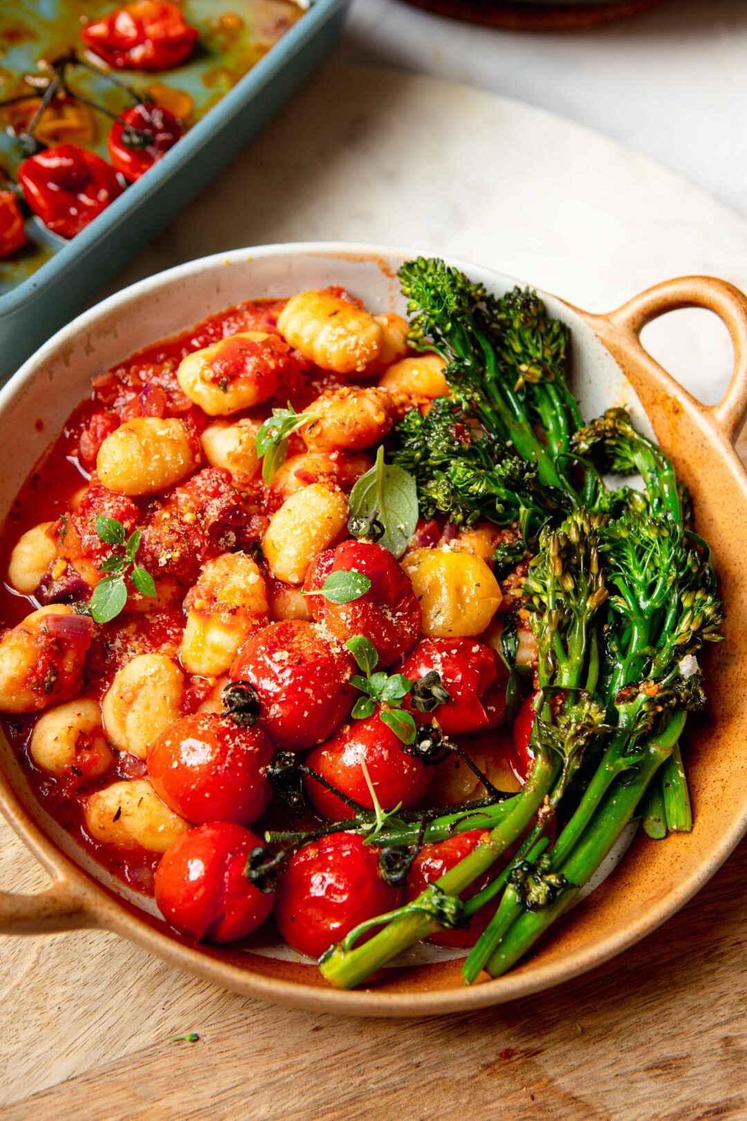 gnocchi with slow roasted tomatoes & chilli