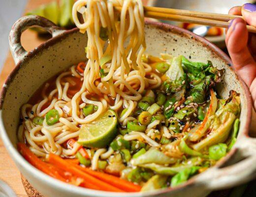 chilli noodle soup recipe leftover lettuce