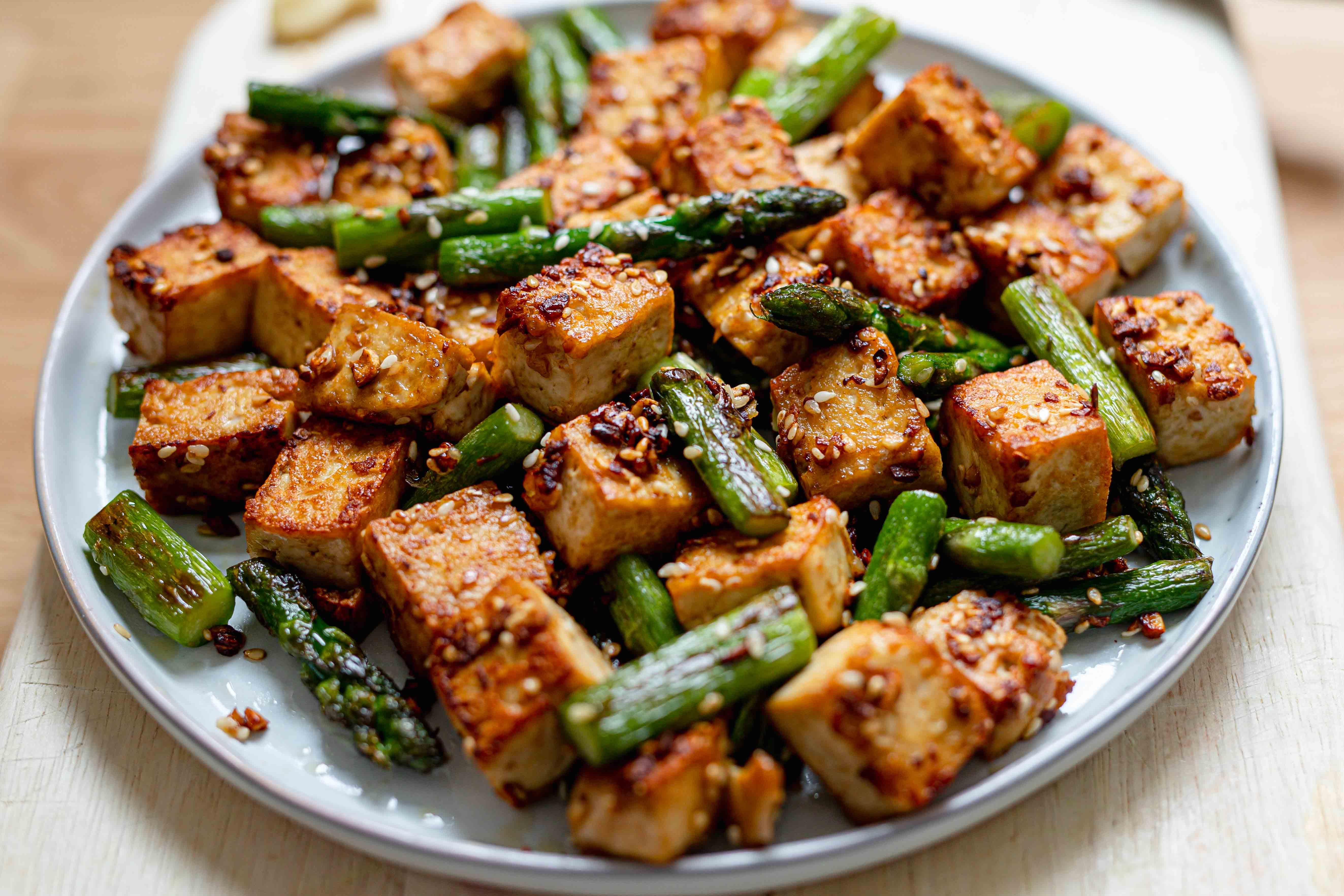 tofu and asparagus stir fry
