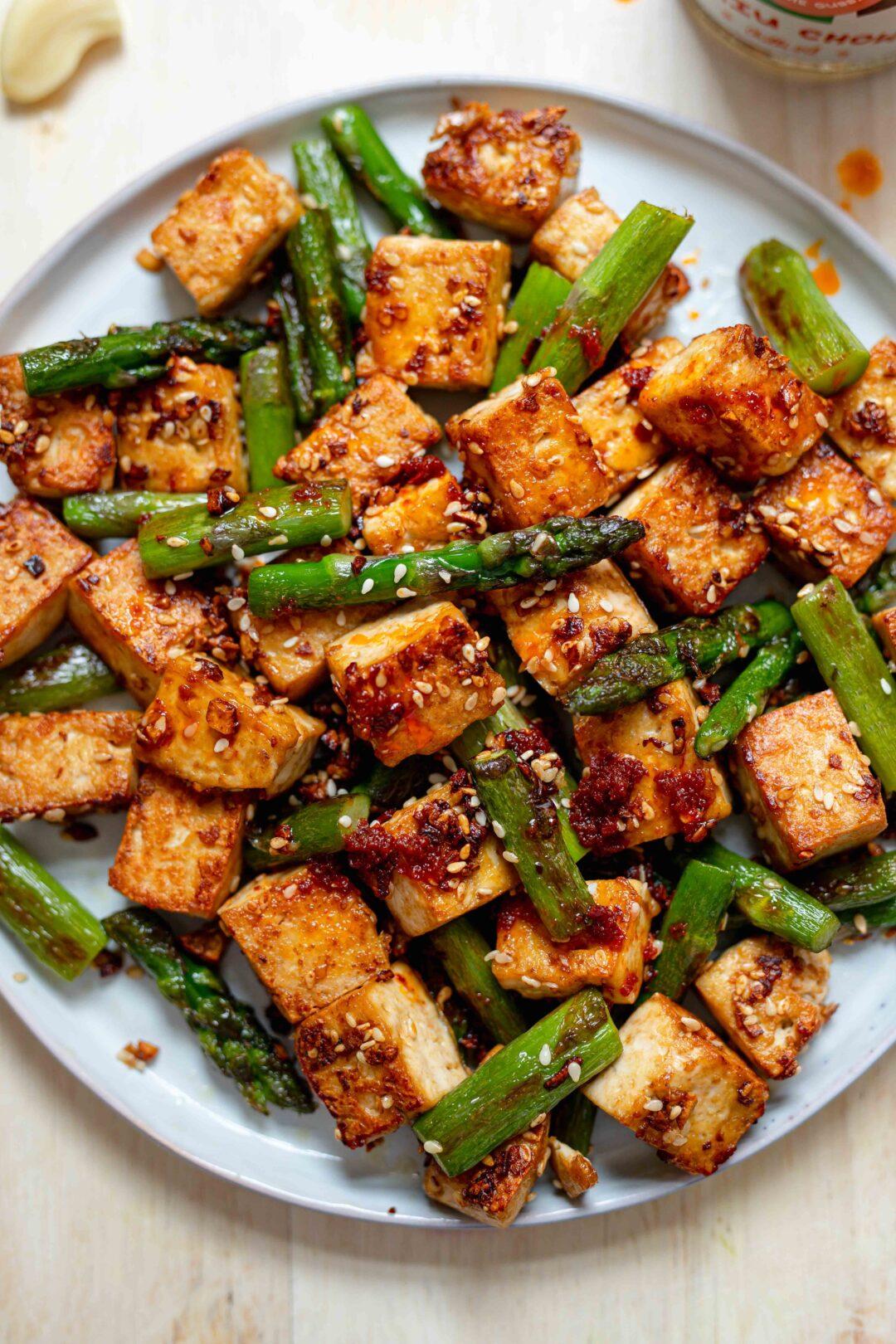asparagus and tofu stir fry vegan