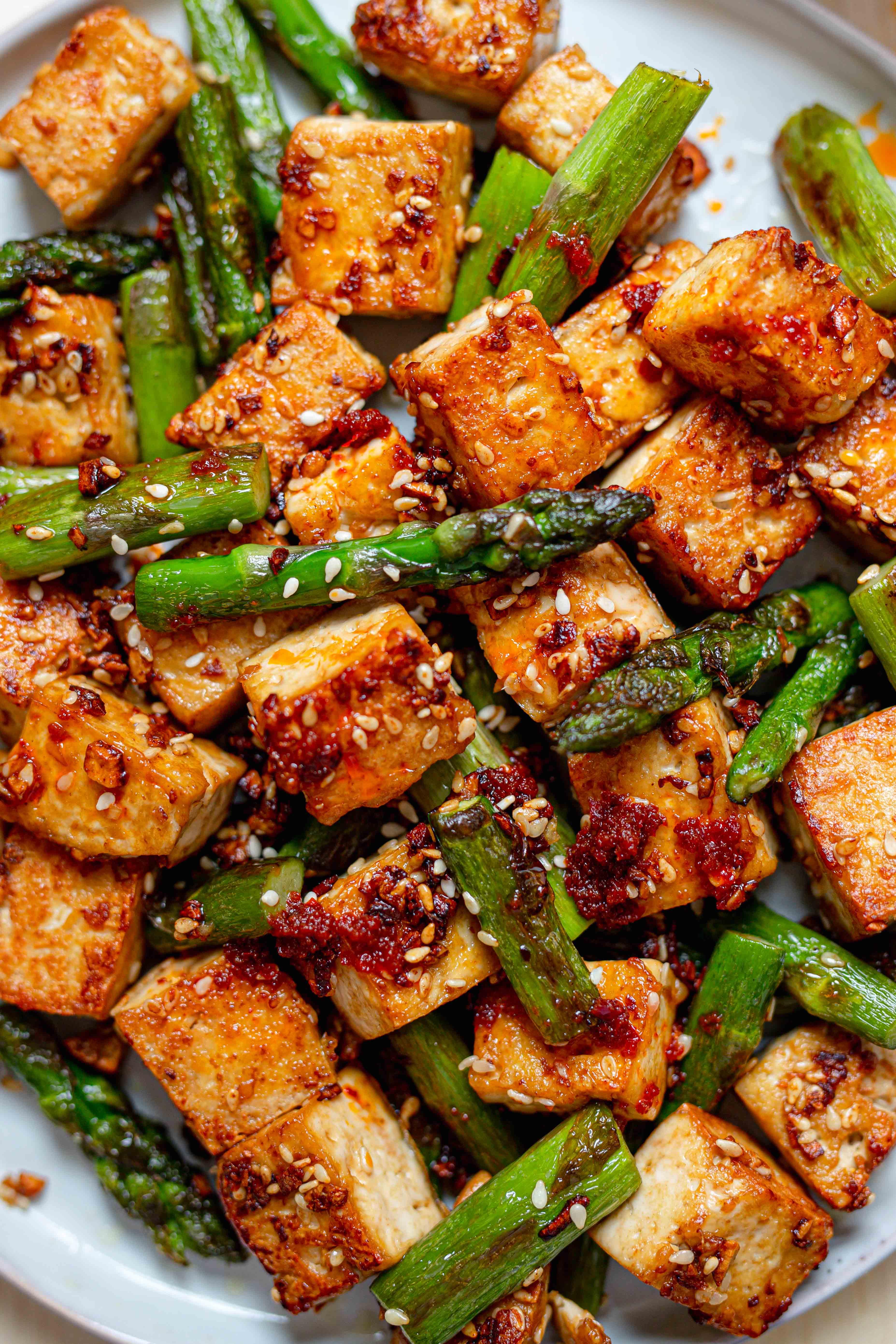 asparagus and tofu stir fry