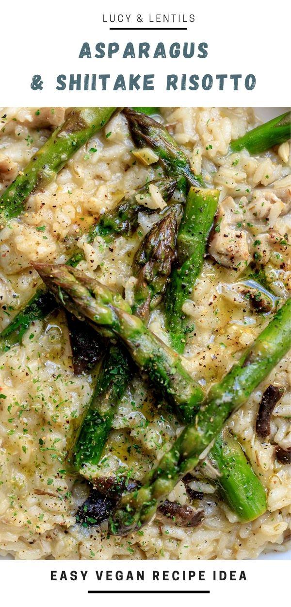 asparagus and shiitake risotto