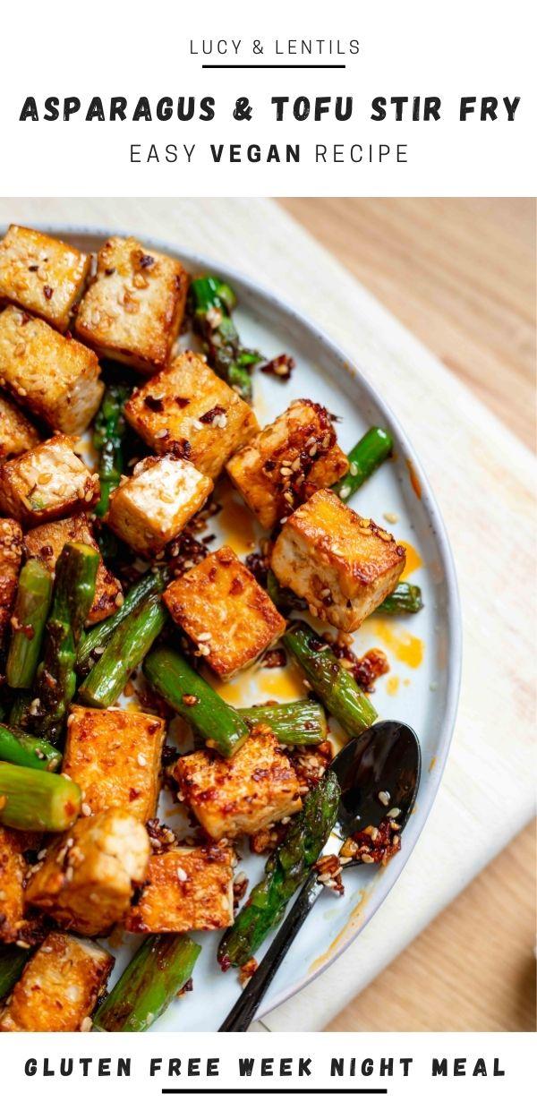 gluten free asparagus and tofu stir fry