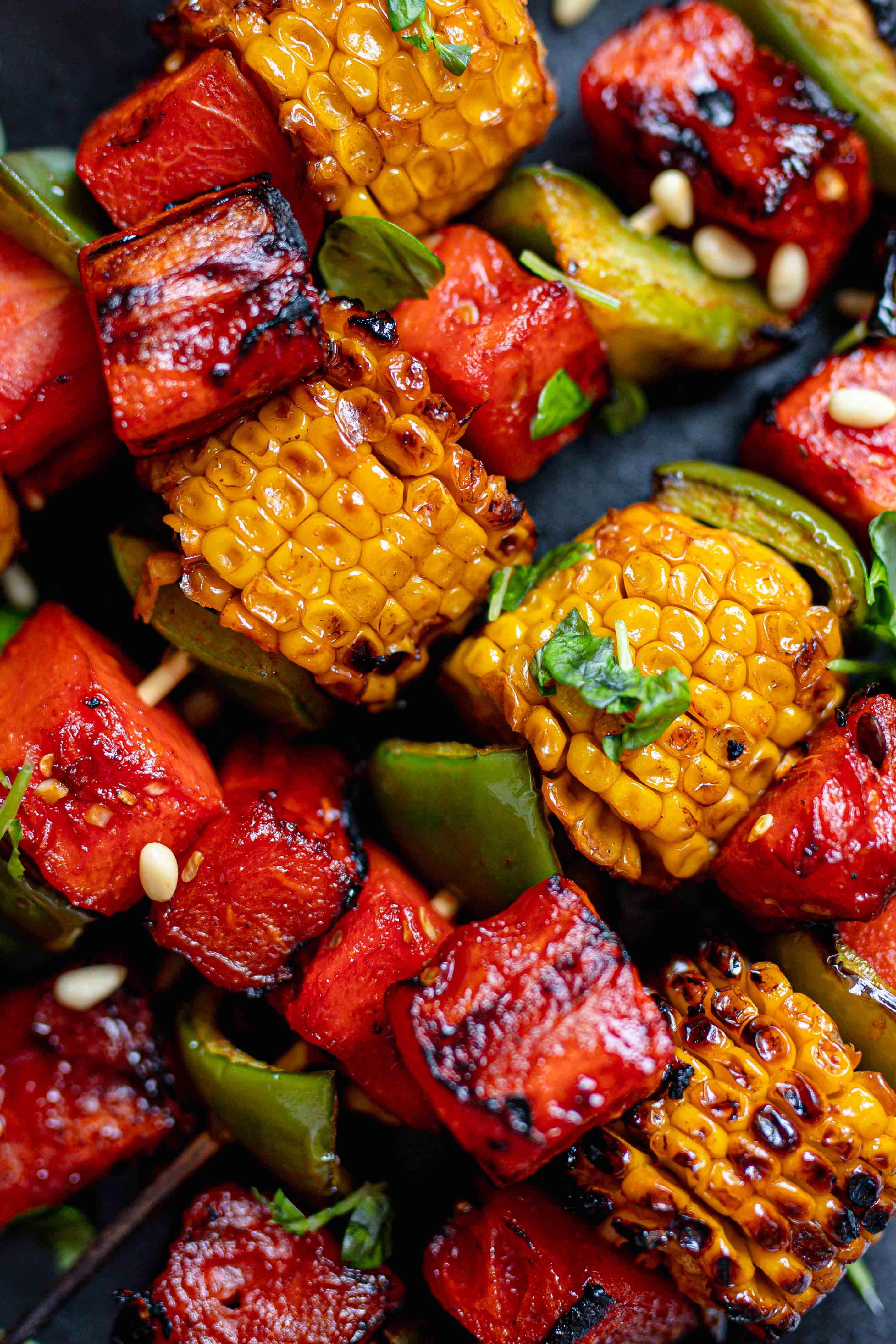 grilled bbq watermelon skewers